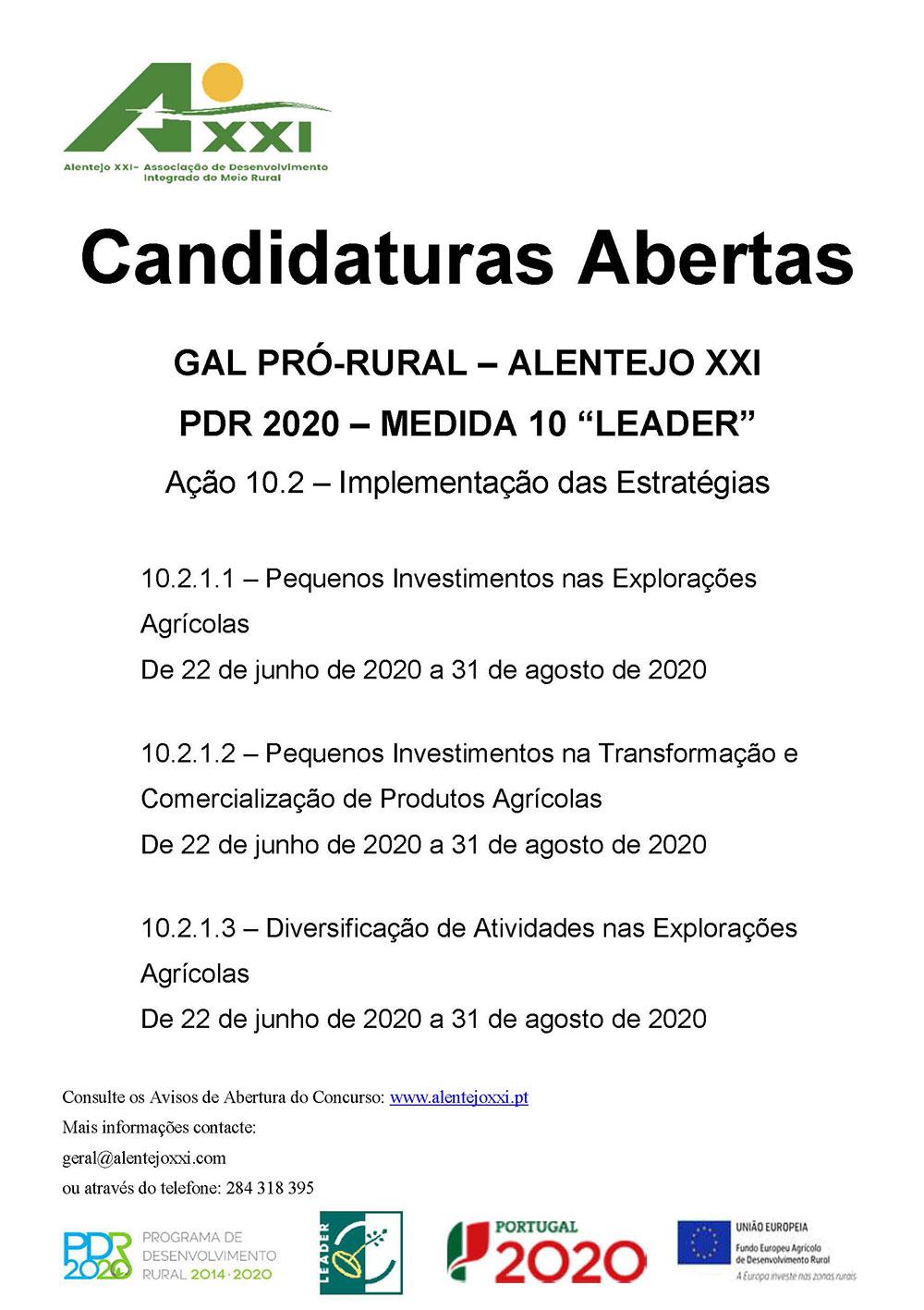 Candidaturas Abertas